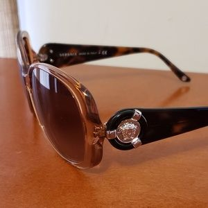 Versace Sunglasses Ve 4221 Havana Brown